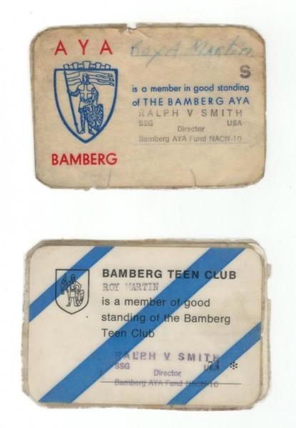 Bamberg AYA Card