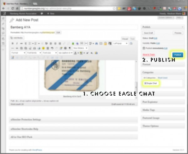 Publish to Eagle Chat